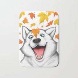 Autumn husky Bath Mat