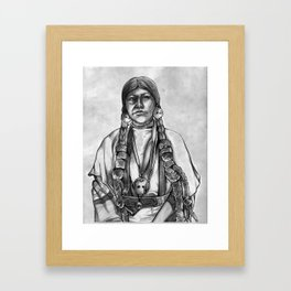 Native American Girl Framed Art Print