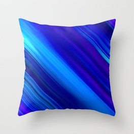 Abstract watercolor colorful lines painting Throw Pillow