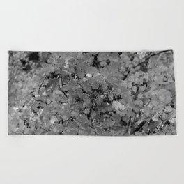 Berries in Black and White Beach Towel