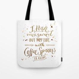 Coffee Spoons, T.S. Eliot Tote Bag