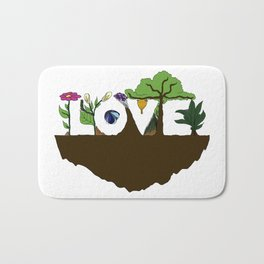Love for Nature in Negative Space Bath Mat