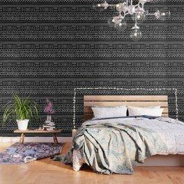 Mud Cloth on Black Wallpaper