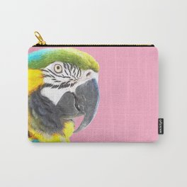 Macaw Portrait Pink Background Carry-All Pouch