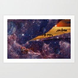 Earth Tears Into Space Art Print