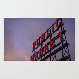 Pike Place Neon Sunrise Rug