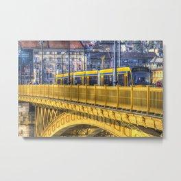 Margaret Bridge Budapest Metal Print