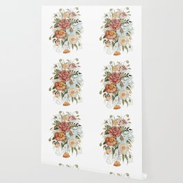 Roses and Poppies Wallpaper
