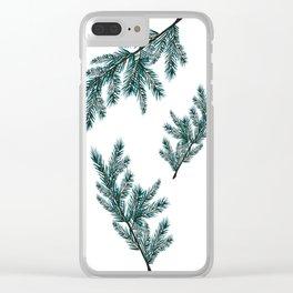 Peaceful Fern Clear iPhone Case