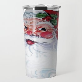 Vintage Style Jolly Santa  Travel Mug