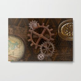 Comforts of Steampunk Metal Print