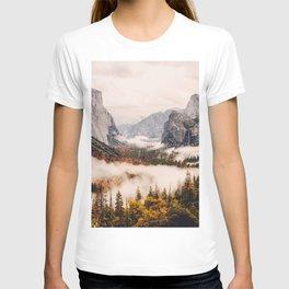Amazing Yosemite California Forest Waterfall Canyon T-shirt
