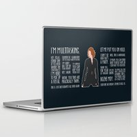 black widow Laptop & iPad Skins featuring Black Widow by MacGuffin Designs