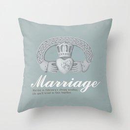 February Marriage Throw Pillow