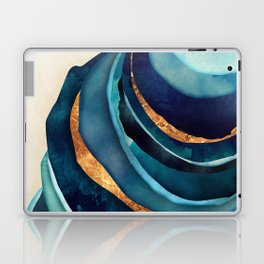 Abstract Blue with Gold Laptop & iPad Skin