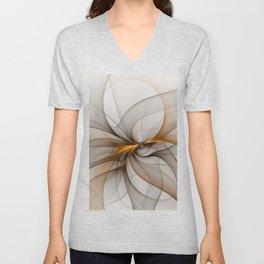 Elegant Chaos, Abstract Fractal Art Unisex V-Neck
