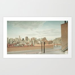 ♘ the rooftop ♘ Art Print