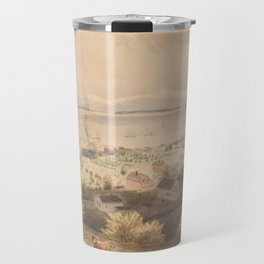 Vintage Pictorial View of Seattle & The Puget Sound Travel Mug