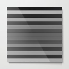 Black and Gray Stripes Metal Print