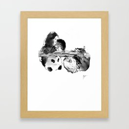 Hanging out Framed Art Print