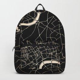 London Black on Gold Street Map II Backpack