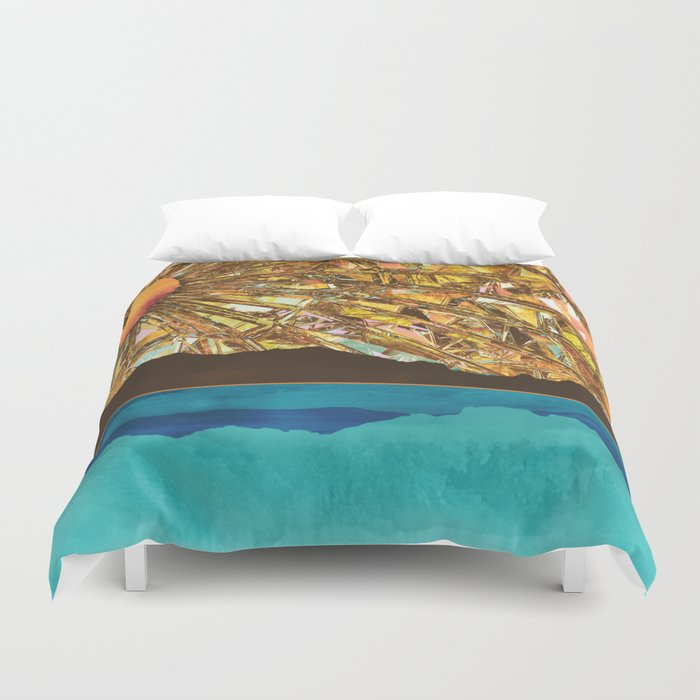 Fractured Sky Duvet Cover