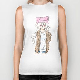 Anime Girl (light) Biker Tank