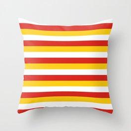 Bhutan dorset flag stripes Throw Pillow