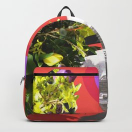 The Unimpressed Tourist (red version) Backpack