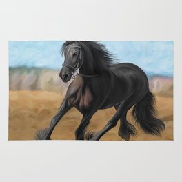 Drawing horse Rug