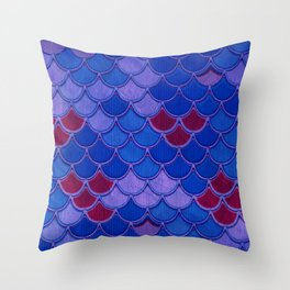 Colorful Dragon Scales Throw Pillow