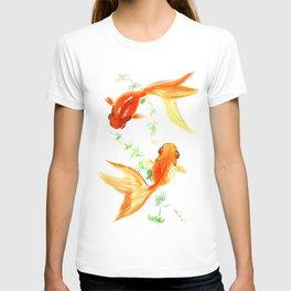 Goldfish, Feng Shui Asian Watercolor T-shirt