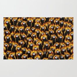 Infernal bears party Rug