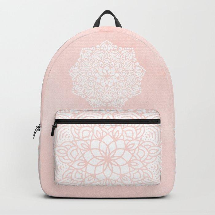 Mandala Mermaid Sea Pink by Nature Magick Backpack