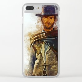 Clint Eastwood Tribute Clear iPhone Case