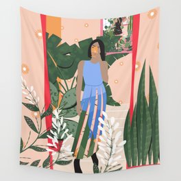 Plant Girl #4 Wall Tapestry