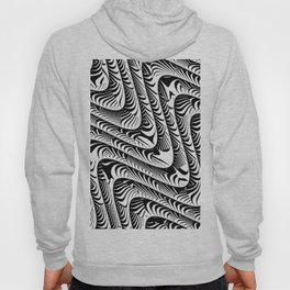 Black and White Serpentine Pattern Hoody