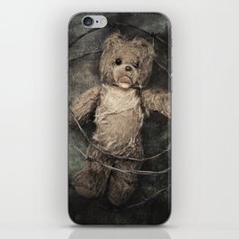 trapped teddy bear iPhone Skin