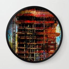 Steel skeleton and metal bones Wall Clock