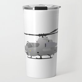 American Grey Attack Helicopter Travel Mug