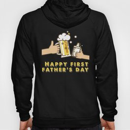 Father's Day Shirt for Baby- First Father's Day Hoody