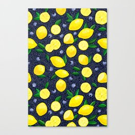 Lemon Blueberry Tart Canvas Print