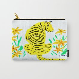 Tiger and Tiger Lillies Carry-All Pouch