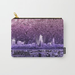 cleveland city skyline Carry-All Pouch