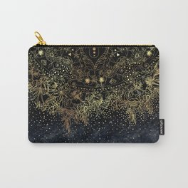 Stylish Gold floral mandala and confetti Carry-All Pouch