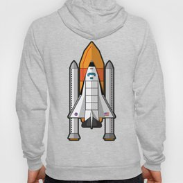 Space Shuttle night launch Hoody