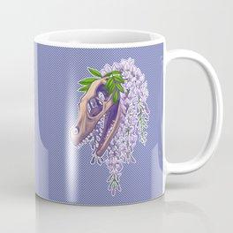 Velociraptor with Wisteria Coffee Mug