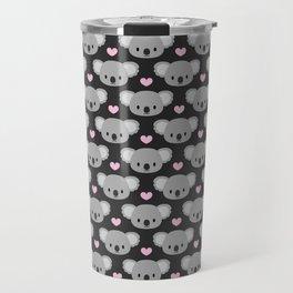 Cute koalas and pink hearts Travel Mug