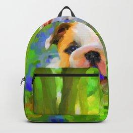 Bulldog and Bluebells Backpack