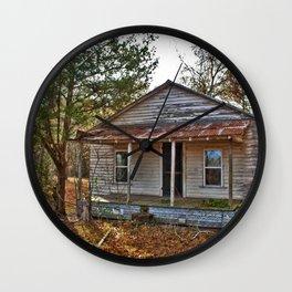 Old Shanty House Wall Clock